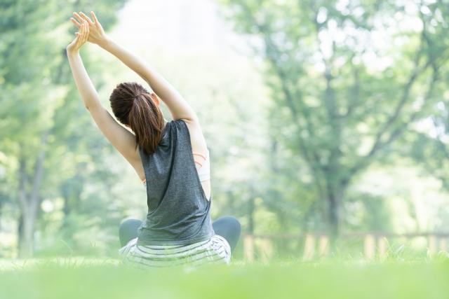 適度な運動で血行を促す